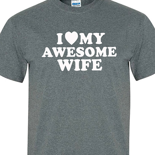 Gifts For Husband On Wedding Night: Buy Husband Gift I Love My Awesome Wife Mens Shirt Fathers