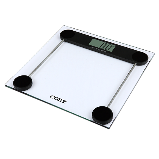 Buy Coby Tempered Glass Digital Bathroom Scale 400 Lb Capacity Easy To Read Lcd Display By