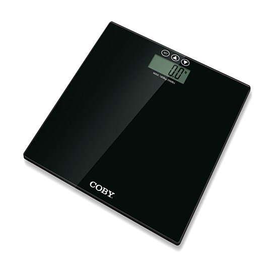 Buy Coby Tempered Glass Digital Bathroom Scale With Bmi Function 400 Lb Capacity Easy To