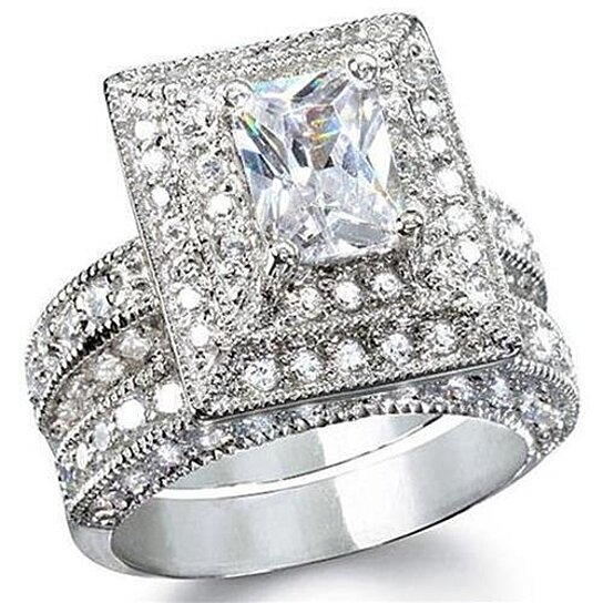 Buy Womens 325ct Vintage Style Wedding Ring Set Sterling Silver By Edwin Earls On OpenSky