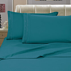 Elegant Comfort 1500 Series Wrinkle Resistant Egyptian Quality Hypoallergenic Ultra Soft Luxury 4-Piece Bed Sheet Set