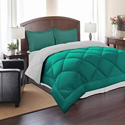 Elegant Comfort All Season Light Weight Down Alternative Reversible 3-Piece Comforter Set- All Sizes And Many Colors