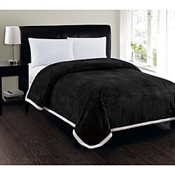 Elegant Comfort Best, Softest, Luxury Micro-Sherpa Blanket - Heavy Weight Stripe Design Ultra Plush Blanket