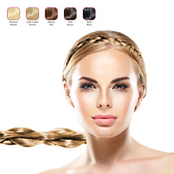 Hollywood Hair Thin Braided Hair Headband for Woman