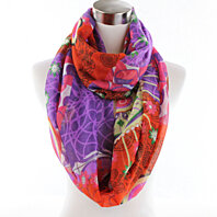 Colorful Circle Graphic scarf