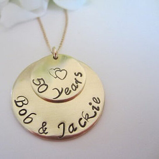 Buy 50th Anniversary Necklace Golden Wedding Anniversary