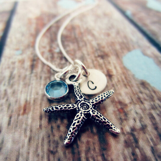 Bridesmaid Gifts Beach Wedding: Buy Starfish Necklace-Beach Wedding-Bridesmaid Jewelry