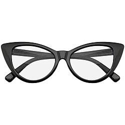 86bfb8f469132 Emblem Eyewear - Super Cat Eye Glasses Vintage Inspired Fashion Mod Clear Lens  Eyewear