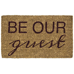 Be Our Guest Handwoven Coconut Fiber Doormat