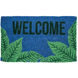 Palms Welcome Handwoven Coconut Fiber Doormat