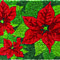 Poinsettias Handwoven Coconut Fiber Doormat