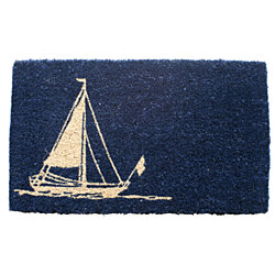 Sailboat Handwoven Coconut Fiber Doormat
