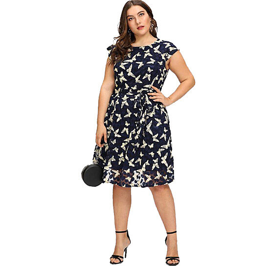 Buy Women\'s Plus Size Floral Printed Dress by ESPRLIA on OpenSky