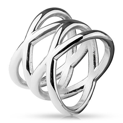 Double X Stainless Steel Rings