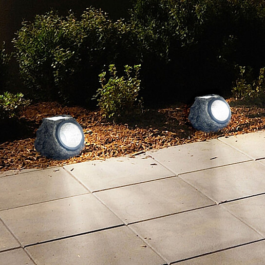 buy pure garden solar rock landscaping lights set of 3 by etcbuys inc on opensky
