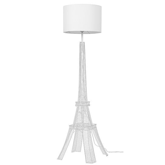 buy euro style collection eiffel tower 65 torchiere floor lamp white. Black Bedroom Furniture Sets. Home Design Ideas