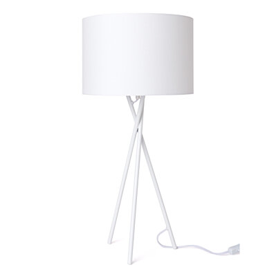 Euro Style Collection Lisboa 25 Inch Tripod Table Lamp White