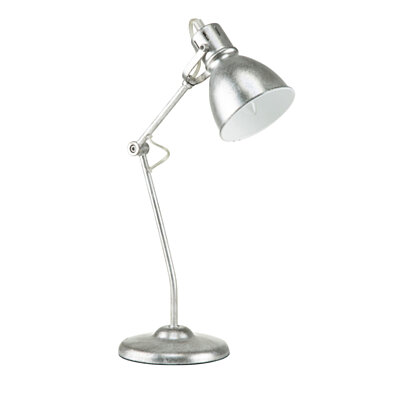 "Euro Style Collection Lyon 18"" Industrial Table Lamp  Brushed Nickel"