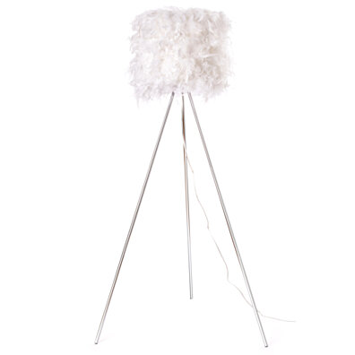 Euro Style Collection Verona  Feathered 61 Inch Floor Lamp