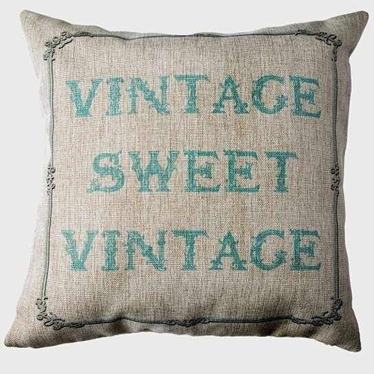 Buy COTTAGE STYLE-VINTAGE-SHABBY CHIC REVERSIBLE INDOOR-OUTDOOR PILLOW by Evelyn Hope Collection ...