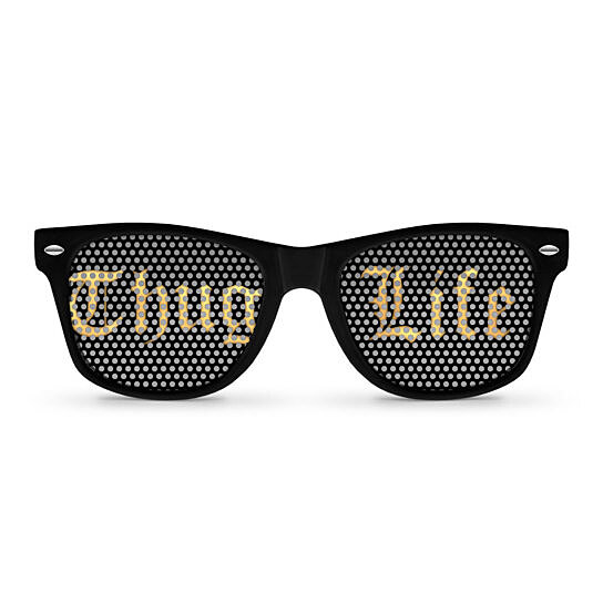 Buy THUG LIFE Retro Party Sunglasses By Party Shades On