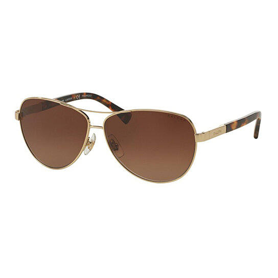 78ab677bd9b01 Buy Ralph by Ralph Lauren Womens RA4116 3138T5 Gold Metal Pilot Polarized  Sunglasses by Eyewear4You on OpenSky