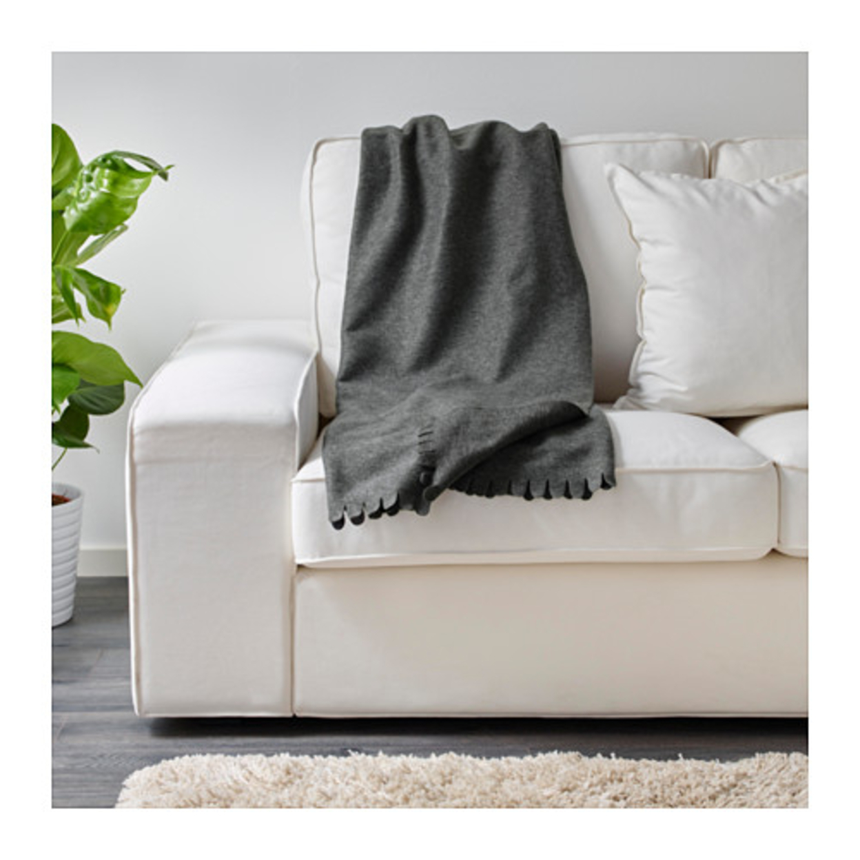 100 % Polyester Comfort Soft Blankets And Throws Gray Color