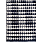 Fab Habitat - Indoor Cotton Rug - Grace - Black