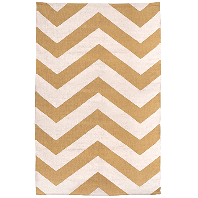 Fab Habitat - Indoor Cotton Rug - Lexington - Beige & White