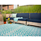 Fab Habitat Indoor/Outdoor Rug - Marina - Eggshell Blue & Bright White