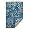 Fab Habitat Indoor/Outdoor Rug - Paisley in River Blue & White