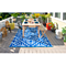 Fab Habitat Indoor/Outdoor Rug - San Juan in Dark Blue