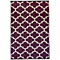 Fab Habitat Indoor/Outdoor Rug - Tangier in Plum & White
