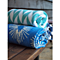 "Fab Habitat - Lilydale - Light Blue & Natural Reversible Cotton Throw Blanket 50"" x 70"""