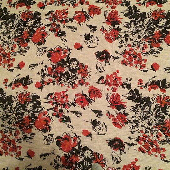 Buy cherry blossom crepe fabric designer fabric sewing for Sewing fabric by the yard