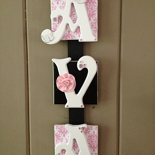 Baby Gift Name Plaque : Buy name plaque letter baby wall hanging