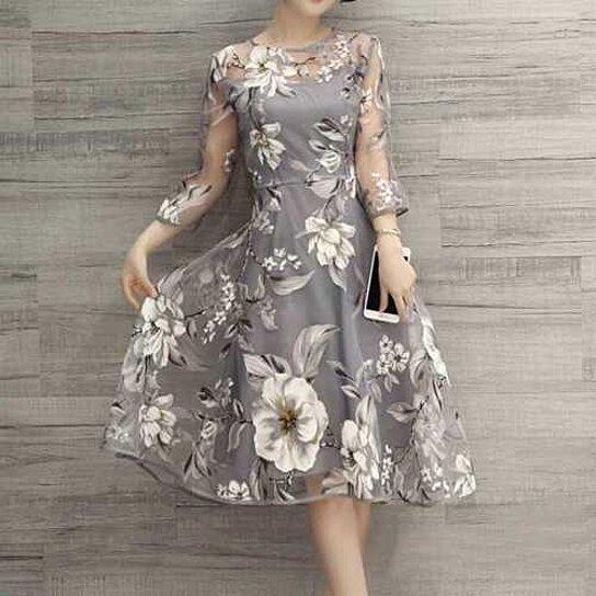 c929eeec260 Buy Womens Elegant Evening Chiffon Floral Dress Beach Party Cocktail Maxi  Long Dress by fangfangstore on OpenSky