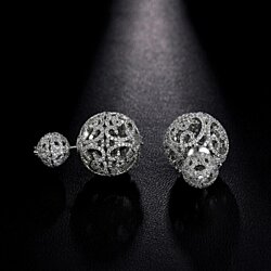 Retro Hollow Ball Double Sided Stud Earrings
