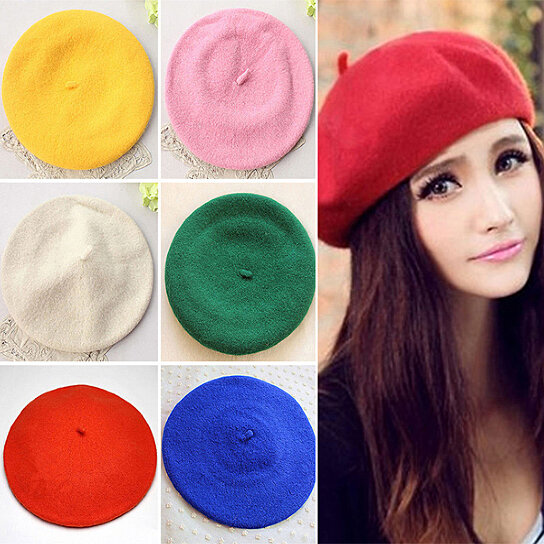 Buy Classic Solid Color Winter French Style Beret Artist Hat Casual Women  Cap Gift by Farfi on OpenSky 5da9a314b7e9
