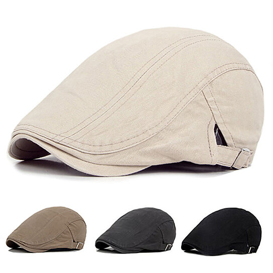 f6e349cb772 Buy Men Casual Classic Solid Color Flat Cabbie Newsboy Ivy Hat Cotton Sun  Beret Cap by Farfi on OpenSky