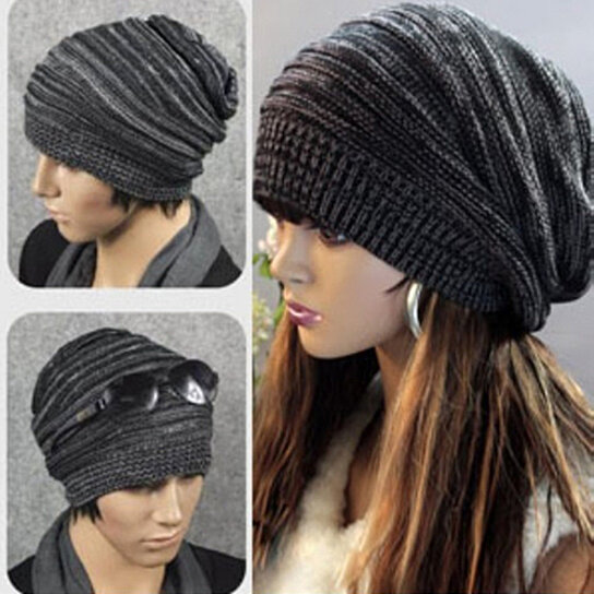 541f2af091e Trending product! This item has been added to cart 45 times in the last 24  hours. Men Women Cool Knit Baggy Beanie Hip Hop Hat Winter Warm Oversized  ...