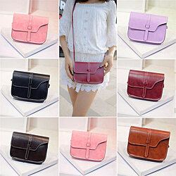 Women Faux Leather Messenger Crossbody Shoulder Bag Satchel Tote Handbag Clutch