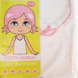 Kid's 100% Cotton Undershirt Camisole Top for Girls