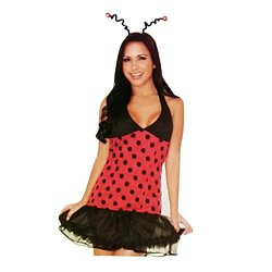 Women Sexy Adult Costume Holiday Halloween DressUp Role Play Ladybug