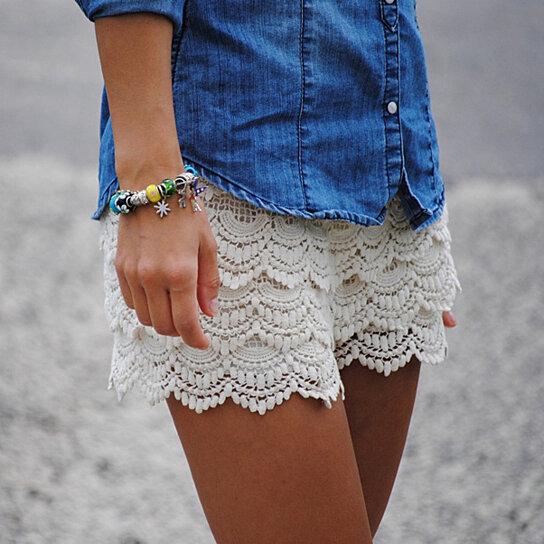 Buy Women S Lace Crochet Shorts By Fashion Club Usa On Opensky