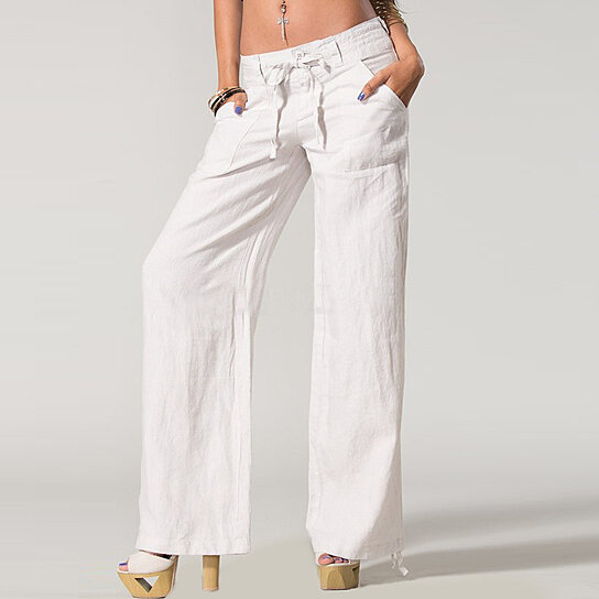 Simple Camel Relaxed Linen Pants  Camel Linen Pants For WomenIsland Company