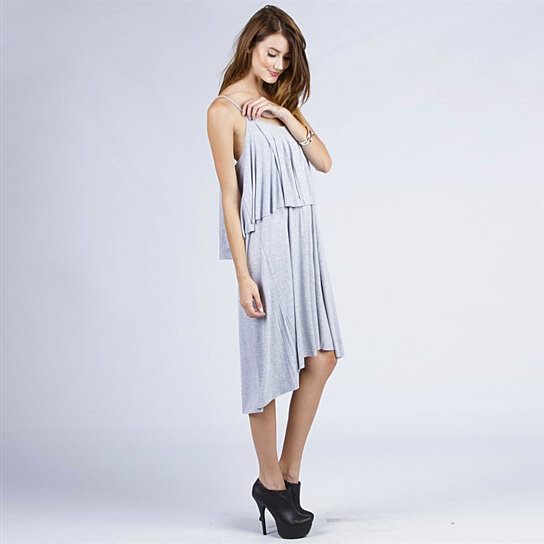 Buy Women S Spaghetti String Flounced High Low Maxi Dress By Fashion Club Usa On Opensky