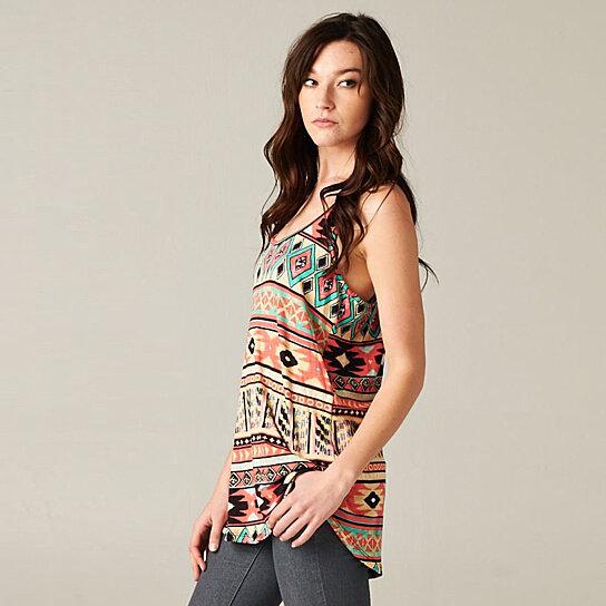 Buy Women S Tribal Print Top By Fashion Club Usa On Opensky