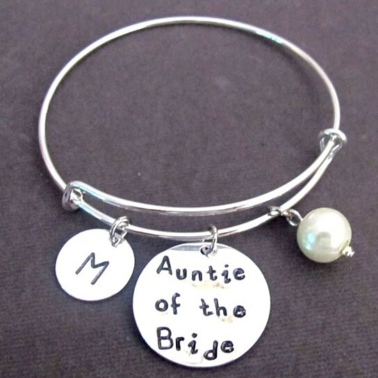 Keepsake Wedding Gifts: Buy Auntie Of The Bride Bracelet,Aunt Of The Bride Bangle