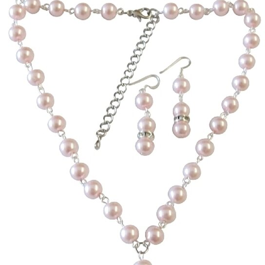 Buy bridemaids jewelry affordable under 20 pink pearl for Bridesmaid jewelry sets under 20